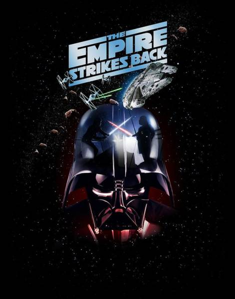 Wing Back Wall Art - Photograph - The Empire Strikes Back by Edward Draganski