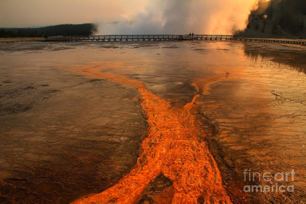 Prismatic Wall Art - Photograph - The Enchantment Of Grand Prismatic Spring by Teresa Zieba