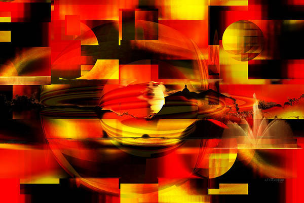 Digital Art - The End - City On Fire by rd Erickson