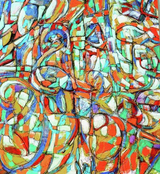 Strangling Painting - The End Of All Rivers by Todd Gutmann