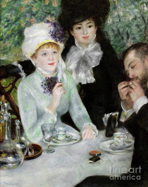 Wall Art - Painting - The End Of Luncheon, 1879 by Pierre Auguste Renoir