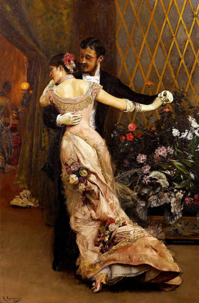 Wall Art - Painting - The End Of The Ball by Rogelio de Egusquiza