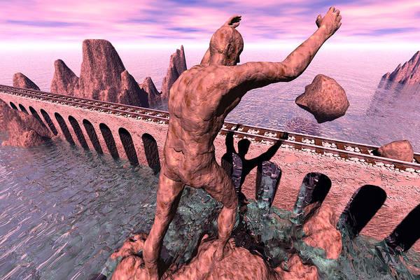Surrealism Digital Art - The Enemy by Dario ASSISI