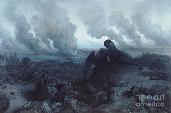 Moody Painting - The Enigma by Gustave Dore