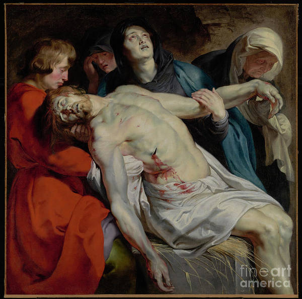 Dali Painting - The Entombment By Peter Paul Rubens by Esoterica Art Agency