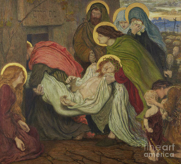 Wall Art - Painting - The Entombment  by Ford Madox Brown