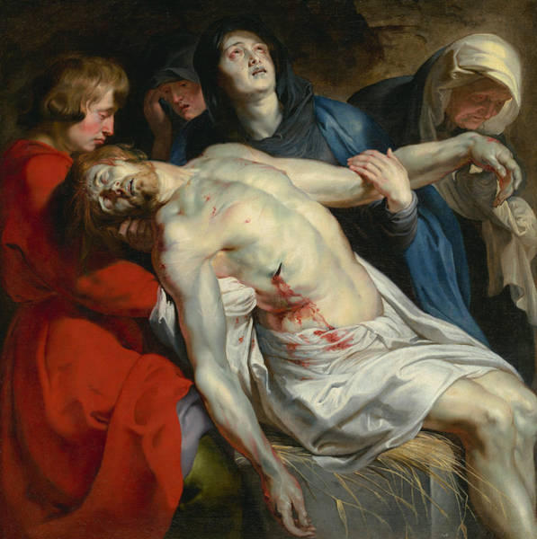 Painting - The Entombment  by Peter Paul Rubens