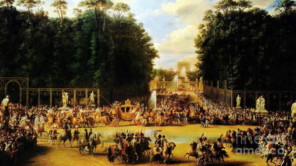 Wall Art - Painting - The Entry Of Napoleon And Marie-louise by Celestial Images