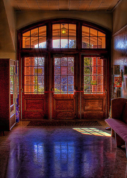 High School Photograph - The Entryway by David Patterson