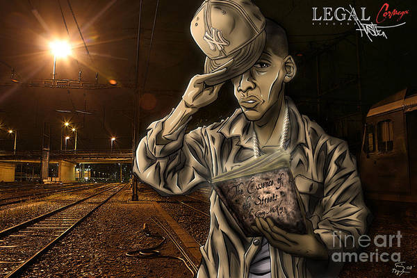 Montana Drawing - The Essence Of The Streets by Tuan HollaBack