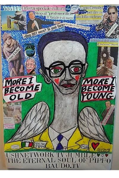 Wall Art - Mixed Media - The Eternal Soul Of Pippo Baudo Tv by Francesco Martin
