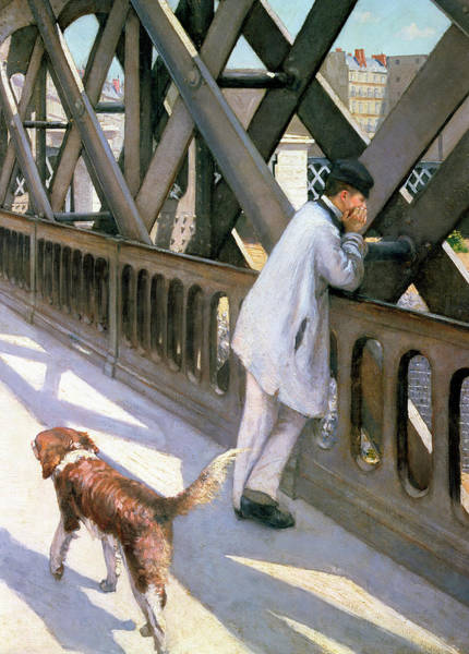 Lazare Painting - The Europe Bridge by Gustave Caillebotte