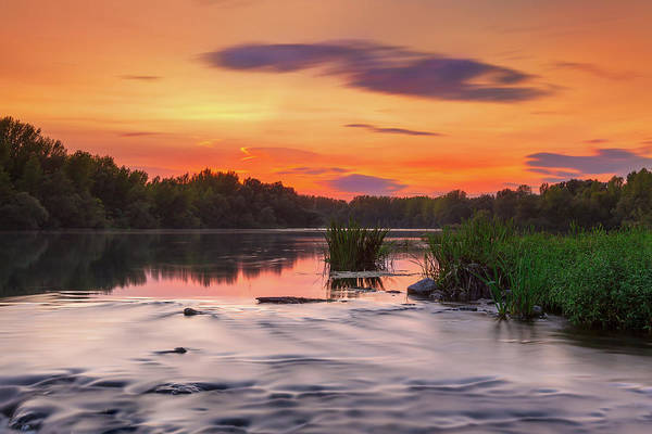 Photograph - The Eve On The River by Davor Zerjav
