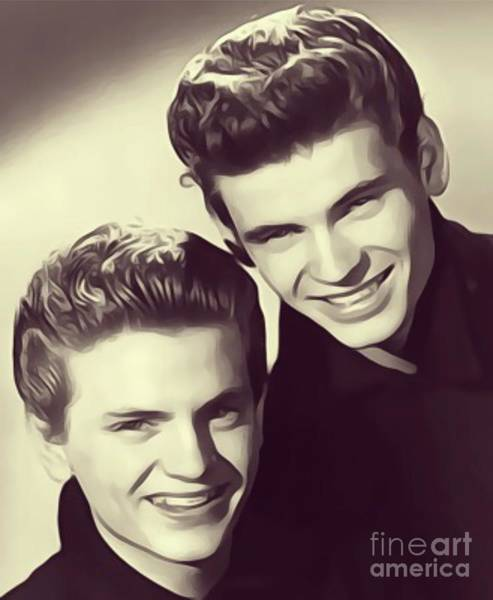Wall Art - Digital Art - The Everly Brothers by John Springfield