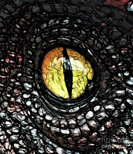 Wall Art - Digital Art - The Evil Eye By Raphael Terra by Raphael Terra