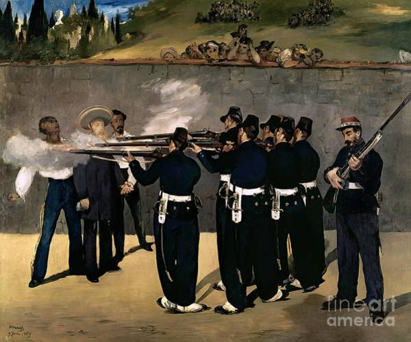 Manet Wall Art - Painting - The Execution Of The Emperor Maximilian by Edouard Manet