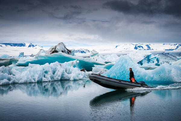 Photograph - The Explorer - Glacier Lagoon In Iceland by Matthias Hauser