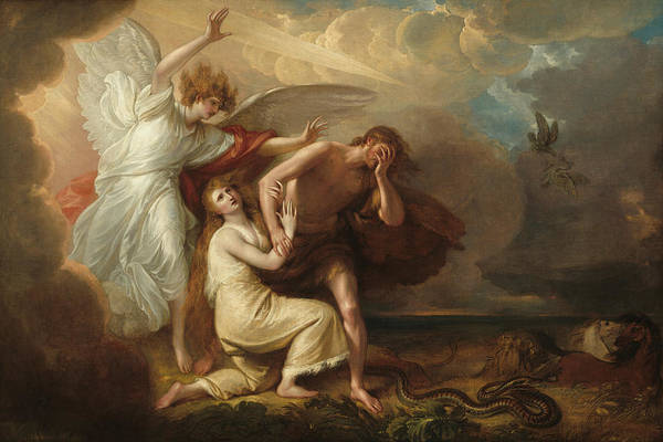 Adam And Eve Wall Art - Painting - The Expulsion Of Adam And Eve From Paradise by Benjamin West