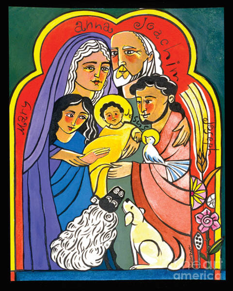 Painting - The Extended Holy Family - Mmehf by Br Mickey McGrath OSFS