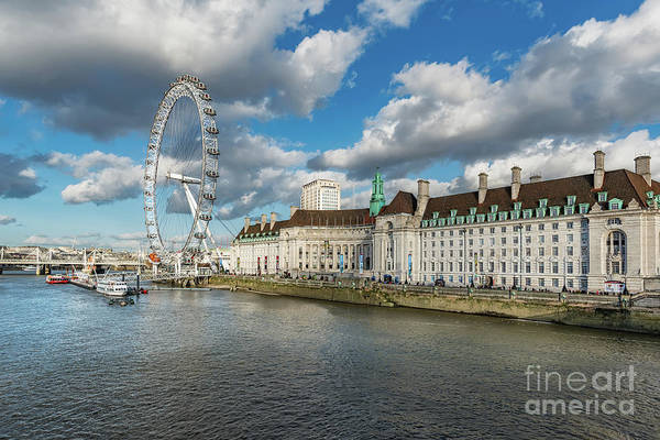 London Eye Photograph - The Eye London by Adrian Evans