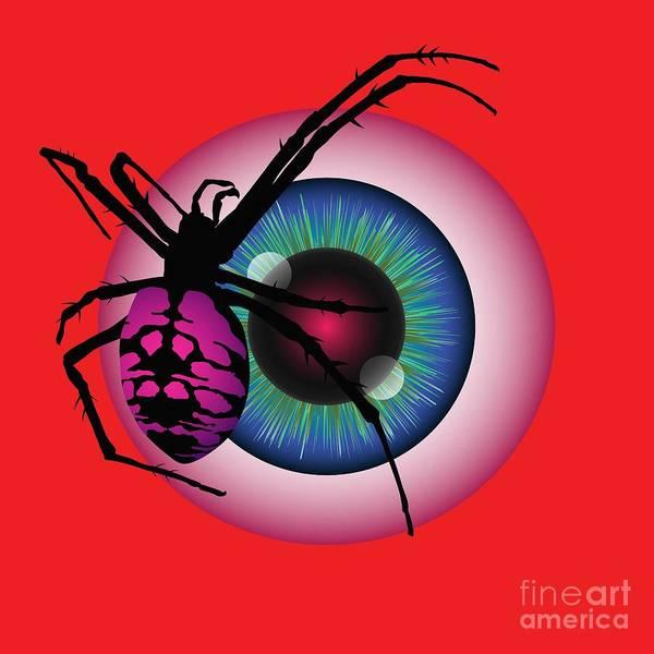 Digital Art - The Eye Of Fear by MM Anderson