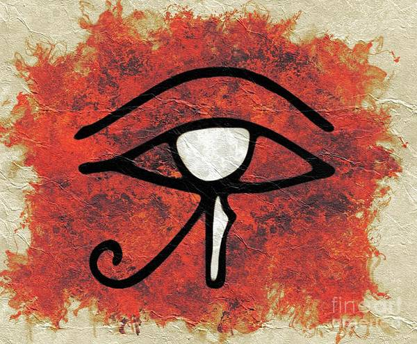 Wall Art - Painting - The Eye Of Horus by Pierre Blanchard