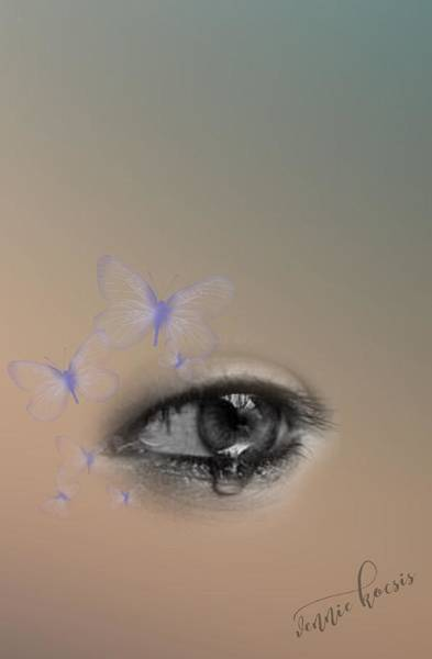Digital Art - The Eyes Don't Lie by Vennie Kocsis