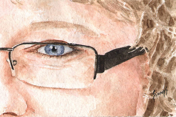 Painting - The Eyes Have It - Donna by Sam Sidders