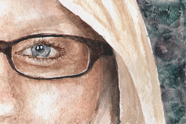 Painting - The Eyes Have It - Dustie by Sam Sidders