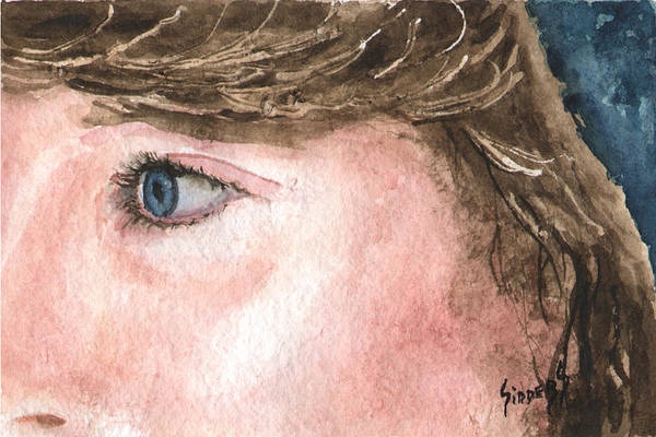 Painting - The Eyes Have It - Franci by Sam Sidders