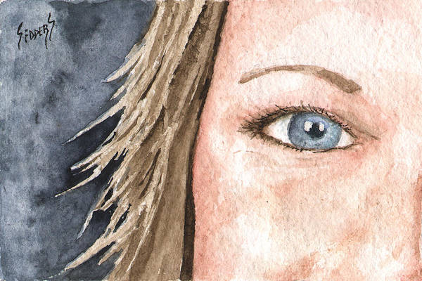 Painting - The Eyes Have It - Jill by Sam Sidders