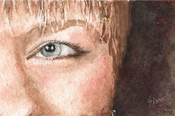 Painting - The Eyes Have It - Shelly by Sam Sidders