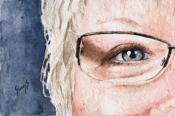 Painting - The Eyes Have It - Vickie by Sam Sidders