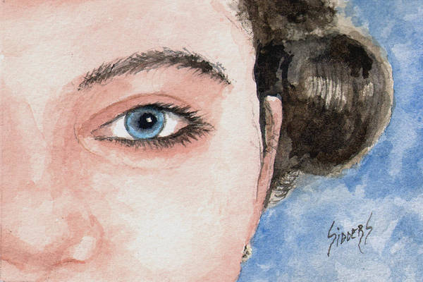 Painting - The Eyes Have It  - Audrey by Sam Sidders