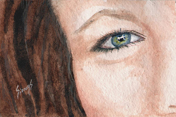Painting - The Eyes Have It-jenifer by Sam Sidders