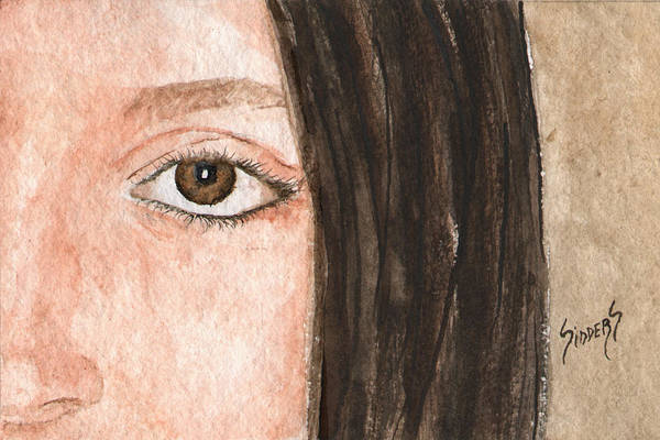 Painting - The Eyes Have It- Katelyn by Sam Sidders