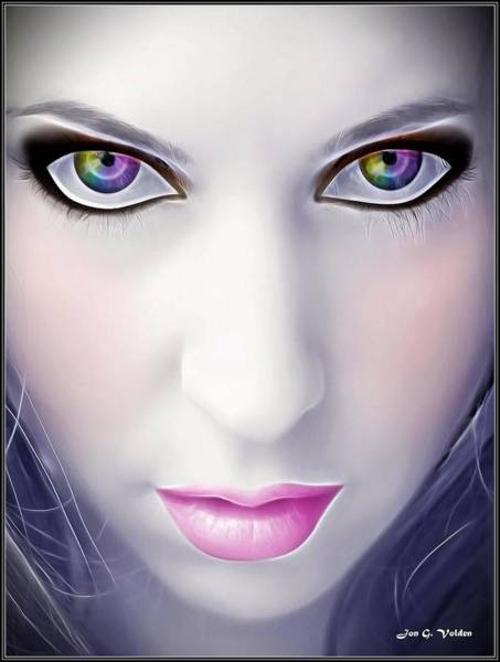 Ir Painting - The Eyes Of A Fairy by Jon Volden