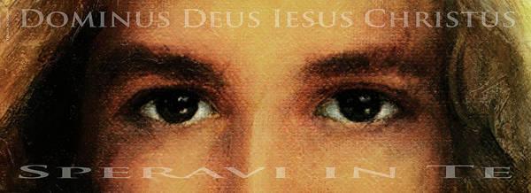 Wall Art - Painting - The Eyes Of Jesus Christ by Terezia Sedlakova