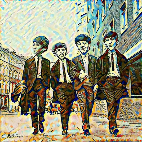 Wall Art - Painting - The Fab Four by Bill Cannon