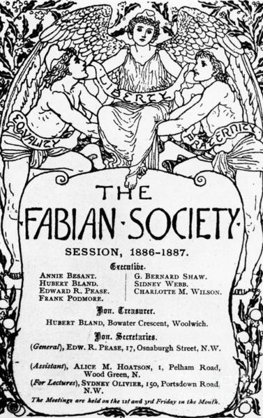 Wall Art - Drawing - The Fabian Society Report by Walter Crane