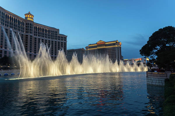 Photograph - The Fabulous Fountains At Bellagio - Las Vegas by Georgia Mizuleva