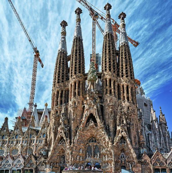 Photograph - The Facade Of The Sagrada Familia by Fine Art Photography Prints By Eduardo Accorinti