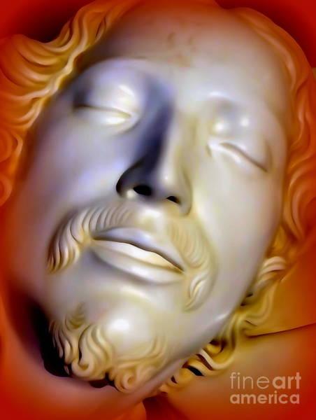 Wall Art - Photograph - The Face Of Jesus-the Pieta by Ed Weidman
