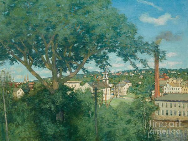 Wall Art - Painting - The Factory Village, 1897  by Julian Alden Weir