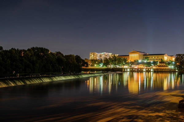 Photograph - The Fairmount Dam And Art Museum - Philadelphia At Night by Bill Cannon