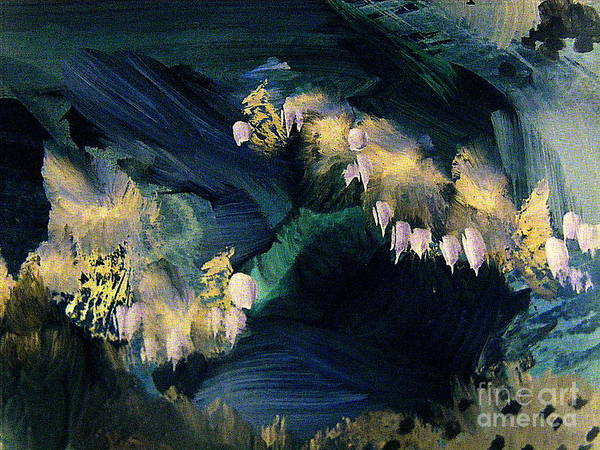 Pale Blue Dot Wall Art - Painting - The Fairy Glen by Nancy Kane Chapman