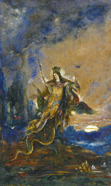 Wall Art - Drawing - The Fairy by Gustave Moreau