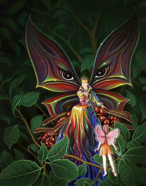 Wall Art - Painting - The Fairy Rebel by Jerry LoFaro