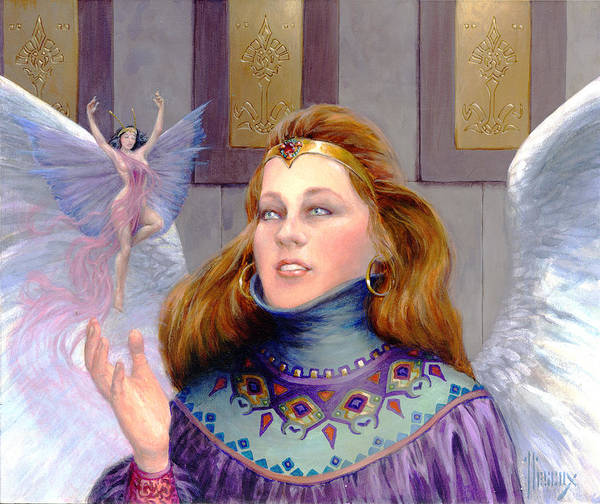 Mage Wall Art - Painting - The Fairy Visitor by Richard Hescox