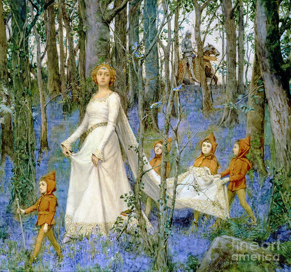 Elf Wall Art - Painting - The Fairy Wood by Henry Meynell Rheam